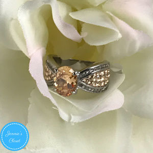Jennie's Closet Jewelry - 3.3CT Champagne Stainless Steel Statement Ring 7